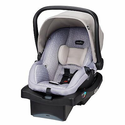 New Evenflo Unisex LiteMax 35 Infant Car Seat, Riverstone With Convenience Base