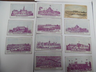 1876 Philadelphia Centennial Exposition Souvenir View Card Set Antique Originals