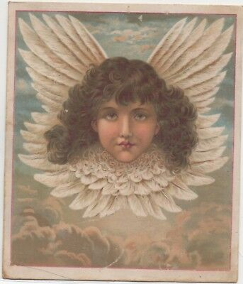 Easter Greeting Kingsley Clothing Utica NY Adv Victorian Trade Card  c1880s