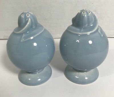 Lu-Ray Pastel Salt Pepper Shakers Blue Corkers