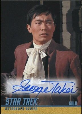 2018 Star Trek TOS Captain's Collection A283 George Takei Autograph EXTREMELY LT