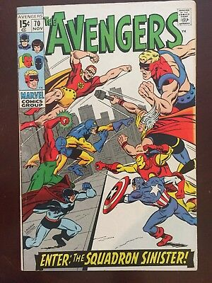 Avengers # 70: 2Nd App Squadron Sinister, Fine+ Cond.