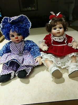Marie Osmond Tiny Tots 2 Dolls (Marie 1st Christmas & Blueberry Muffin )