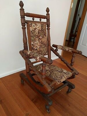 Original Antique Children's Rocking Chair