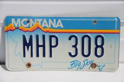 Montana License Plate Montana Highway Patrol MHP 308