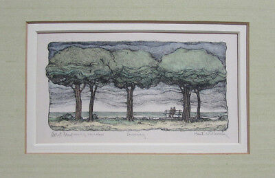 Susan Hunt-Wulkowitz Orig. Pencil Signed Lithograph Hand-Coloring Artist's Proof