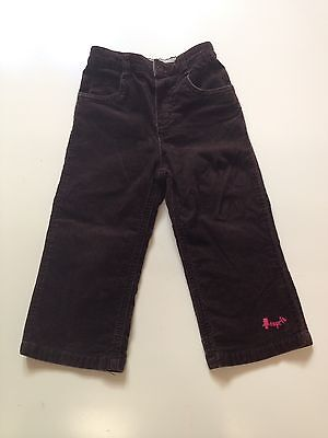 ESPRIT baby girls' boys' cord pants brown size 18 months