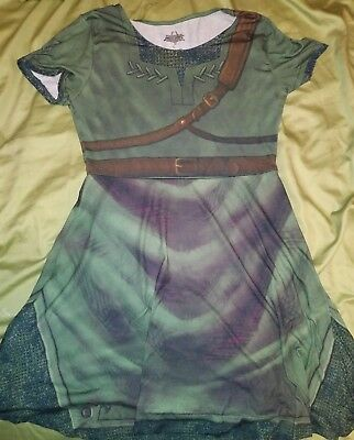 Link Legend of Zelda Costume Cosplay Green Character Dress Size Medium Halloween