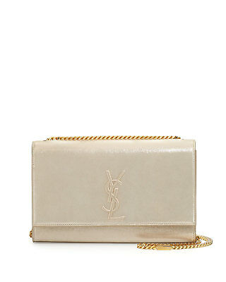 54ae149278a4 100% Auth New Women Yves Saint Laurent Kate Yellow Met Suede Chain Shoulder  Bag