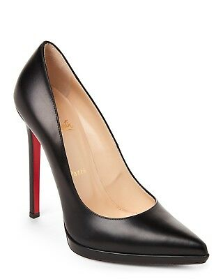 100% Authentic New Women Louboutin Pigalle Plato 120 Black Pumps/heels Us 10