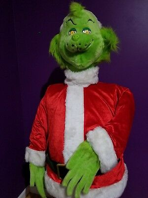 Christmas Animated Gemmy Dancing Animated Grinch Stole Christmas Life Size 5 ft