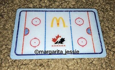Mcdonald's Hockey Rink Arch Gift Card 2012 Canada No Value Collectible New
