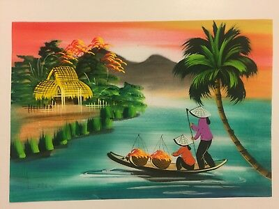 Watercolour Painting Hand Painted In Vietnam - Watercolor - L6