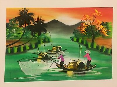 Watercolour Painting Hand Painted In Vietnam - Watercolor - L7