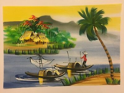 Watercolour Painting Hand Painted In Vietnam - Watercolor - L9