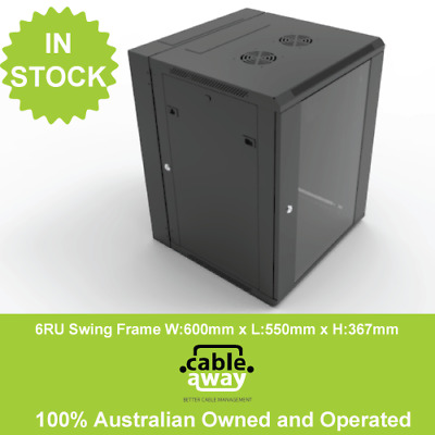 6RU Swing Frame Wall Mount Contractor Series 600mm x 550mm Data Cabinet