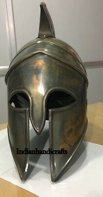Ancient Greek Spartan Corinthian Bronze Armour Helmet Replica very new on ebay