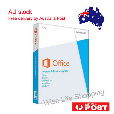 Microsoft Office Home And Business 2013 Product Key With DVD for 1 PC Sealed