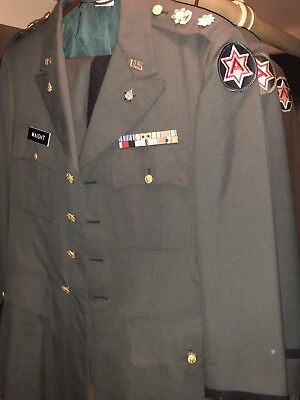 WW2 US Army Air Force Uniforms Officer  Named Set Of Three Including Peaked Caps