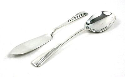 Vintage Art Deco Sterling Silver Jam Spoon & Butter Knife Set Birmingham 1938