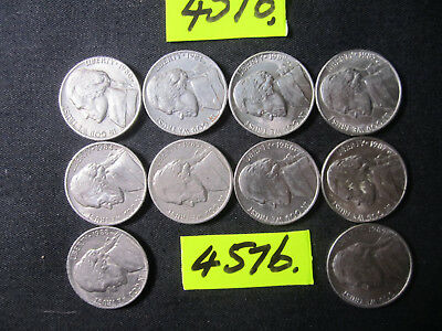 10 x five cent  coins 1980's era from  U.S.A.     20  gms      Mar4576/1