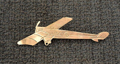 """JASON"" RAAF INSIGNIA AIRPLANE BADGE 1930s AMY JOHNSON? #15"