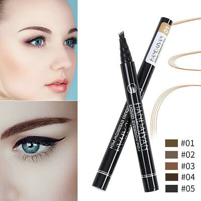 Microblading Tattoo Eyebrow Liquid Ink Pen Waterproof 4Fork Pencil Brow Definer