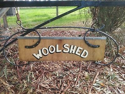 Antique Vintage Old Early Australian WOOLSHED SIGN Hand Painted.