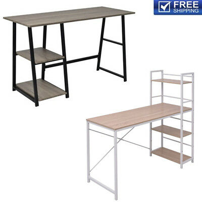 MDF/Chipboard Office Computer Desk PC Laptop Writing Table w/Shelves Home Study