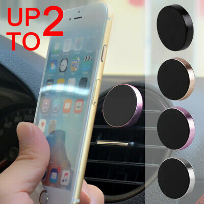 2x Universal Magnetic Mount Car Phone Holder Mobile for GPS iPhone iPad Mini