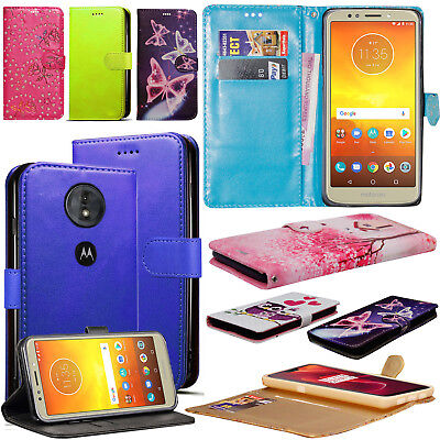 For Motorola Moto E5 Play 2018 Wallet Flip PU Leather Card Slot Stand Cover Case