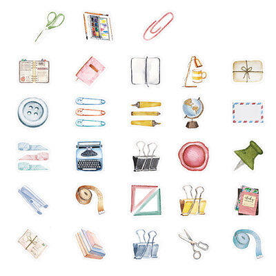 46pcs small item collection paper sticker diary decor for album scrapbooking R