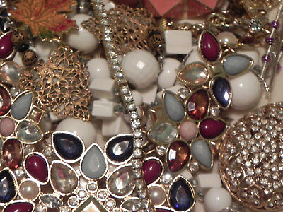 Estate Sale Lot of Vintage to Modern Jewelry, Untested, #689 Some Signed