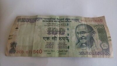 India 100 rupees banknote