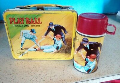 Vintage Play Ball 1969 Metal Lunchbox & Thermos/king Seeley Thermos Co/