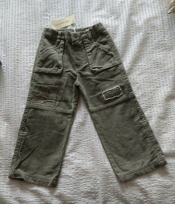 New With Tags! Boy's Khaki Corduroy Trousers Designer John Rocha  Age 2-3 Vgc