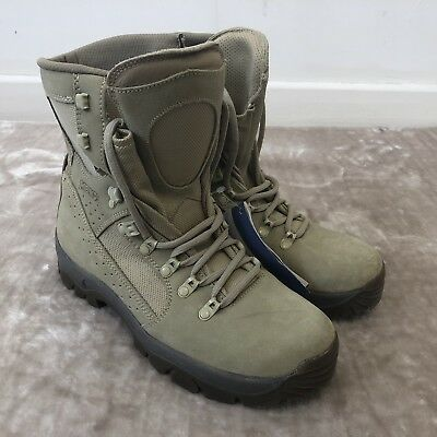 Meindl British Army Desert Fox Boots in Sand UK 8.5 Unworn With Tags #CL