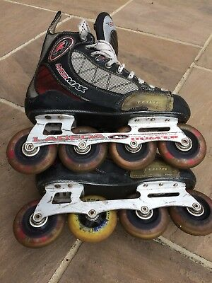 Red Max Tour Roller Blades Size 7