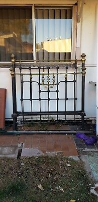 Antique Brass & Iron Double bed frame