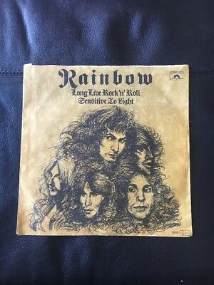 "Rainbow Long Live Rock'n'Roll Sensitive To Light Original 7"" Vinyl Single"