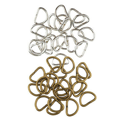 200x D Rings Buckles for Webbing Bag Accessories Leather Craft Silver Bronze