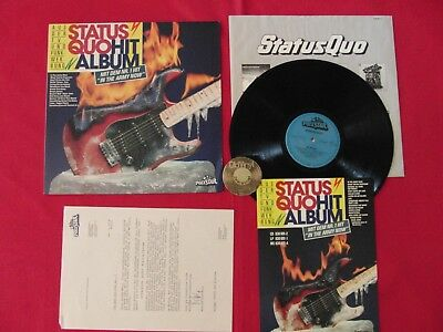 LP Status Quo Hit Album Germany 1988 Info Sheet +Ois Polystar 830 901-1 | M-
