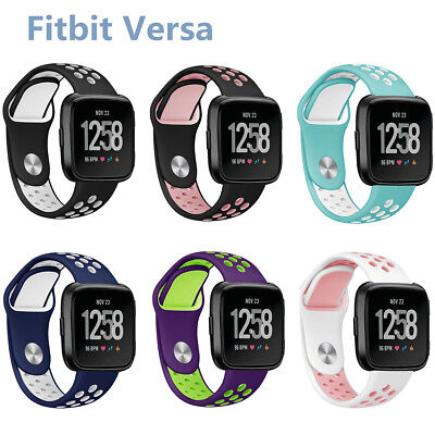 For Fitbit Versa / 2 Wristband Strap Breathable Silicone Replacement Watch Band