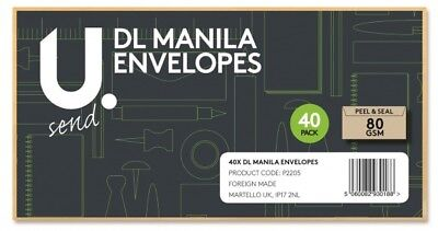 Quality Dl Plain White Manila Envelopes Peel And Seal Strong Paper 110Mmx220Mm