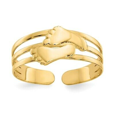 14k Yellow Gold Love Knot Adjustable Toe Ring  1.55 gr