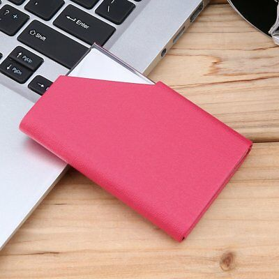 Business ID Credit Card Holder Stainless Steel & PU Leather Thin Card Case MT
