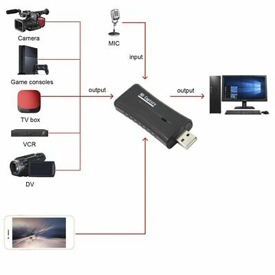 USB2.0 HDMI Acquisition Monitor HDMI Video Capture Card Fast Data Transfer MT