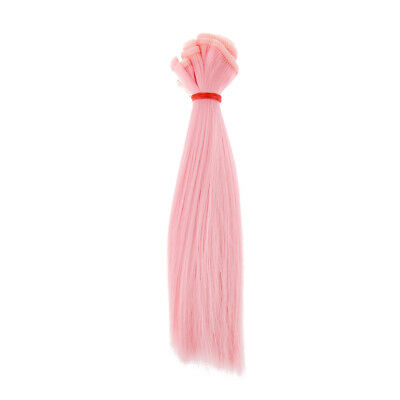 Doll Accessories High Temperature Wire 15x100cm DIY Wig Straight Hair Pink