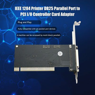 IEEE 1284 Printer DB25 Parallel Port to PCI I/O Controller Card Adapter MT