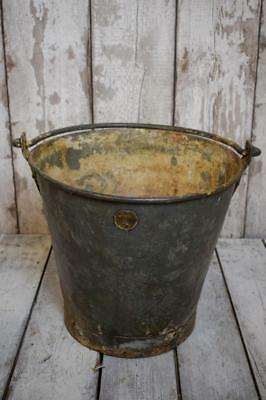 Vintage Metal Bucket Garden Planter Plant Pot Log Basket Storage Container (B5)